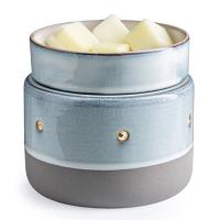 Candle Warmer & Dish Glazed Concrete