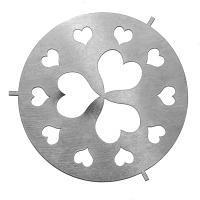 Large Jar Capper Silver Hearts