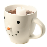 Snowman Mug Chocolate 20 oz