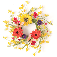 Mixed Wildflower Candle Ring 4.5 Inch