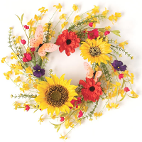 Mixed Wildflower Candle Ring 6.5 Inch