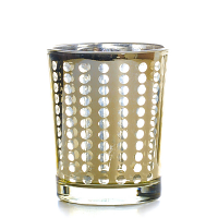 Metallic Gold Dotted Votive Cup