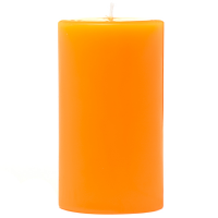 2 x 3 Orange Twist Pillar Candles