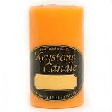 2 x 3 Orange Twist Pillar Candles
