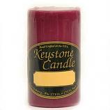 2 x 3 Raspberry Cream Pillar Candles