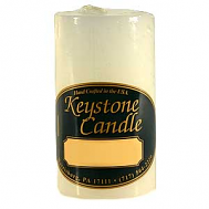 2 x 3 Unscented White Pillar Candles