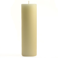2 x 6 Unscented Ivory Pillar Candles