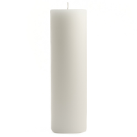 2 x 6 Unscented White Pillar Candles