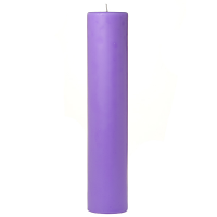 2 x 9 Lavender Pillar Candles