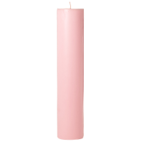 2 x 9 Pink Hibiscus Pillar Candles