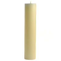 3 x 12 Unscented Ivory Pillar Candles