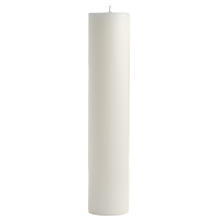 3 x 12 Unscented White Pillar Candles