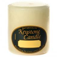 3 x 3 French Butter Cream Pillar Candles