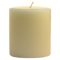 3 x 3 French Vanilla Pillar Candles