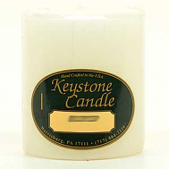 3 x 3 Unscented White Pillar Candles