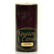 3 x 6 Black Cherry Pillar Candles
