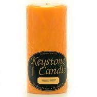 3 x 6 Orange Twist Pillar Candles
