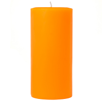 3 x 6 Orange Twist Pillar Candles