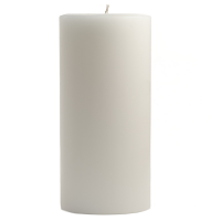 3 x 6 Unscented White Pillar Candles