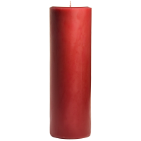 3 x 9 Raspberry Cream Pillar Candles