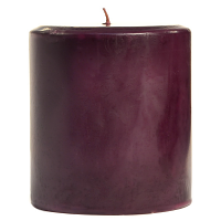 4 x 4 Black Cherry Pillar Candles