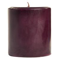 4 x 4 Black Cherry Pillar Candles