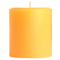 4 x 4 Creamsicle Pillar Candles