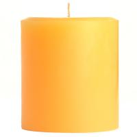 4 x 4 Creamsicle Pillar Candles