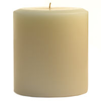 4 x 4 French Butter Cream Pillar Candles