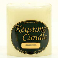 4 x 4 French Vanilla Pillar Candles