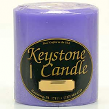 4 x 4 Lavender Pillar Candles