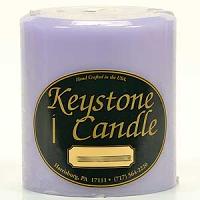 4 x 4 Lemon Lavender Pillar Candles