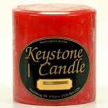 4 x 4 Mistletoe and Holly Pillar Candles