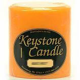 4 x 4 Orange Twist Pillar Candles