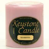 4 x 4 Pink Hibiscus Pillar Candles