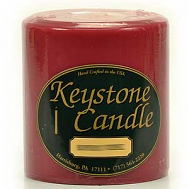 4 x 4 Raspberry Cream Pillar Candles