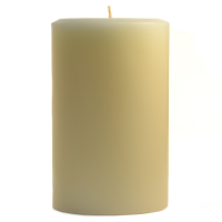 4 x 6 French Butter Cream Pillar Candles
