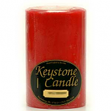 4 x 6 Mistletoe and Holly Pillar Candles
