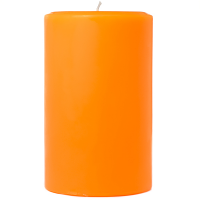 4 x 6 Orange Twist Pillar Candles
