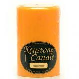 4 x 6 Orange Twist Pillar Candles
