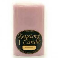 4 x 6 Pink Hibiscus Pillar Candles