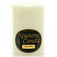 4 x 6 Unscented White Pillar Candles