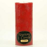 4 x 9 Mistletoe and Holly Pillar Candles