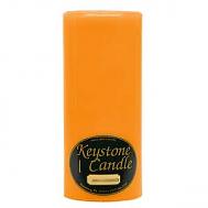 4 x 9 Orange Twist Pillar Candles