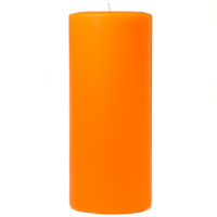 4 x 9 Orange Twist Pillar Candles