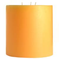 6 x 6 Creamsicle Pillar Candles