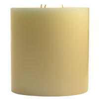6 x 6 French Butter Cream Pillar Candles
