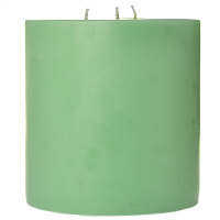 6 x 6 Honeydew Melon Pillar Candles
