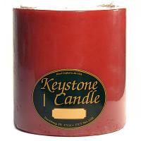 6 x 6 Mistletoe and Holly Pillar Candles