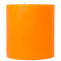 6 x 6 Orange Twist Pillar Candles